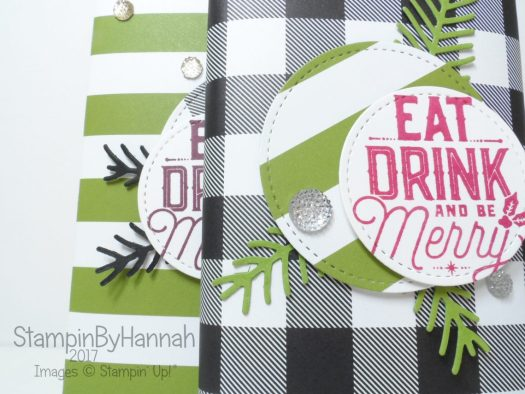 Christmas Countdown Video Tutorial Chocolate bar wrappers using Christmas Pines and Merry Little Labels from Stampin' Up!