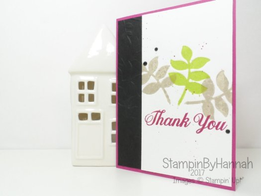 Thank You Card featuring Die Cut Letterpress technique and Eclectic Layers Thinlits from Stampin' Up!