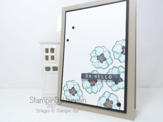 Stampin' Blends Facebook Live Hello Card using Colour Me Happy from Stampin' Up!