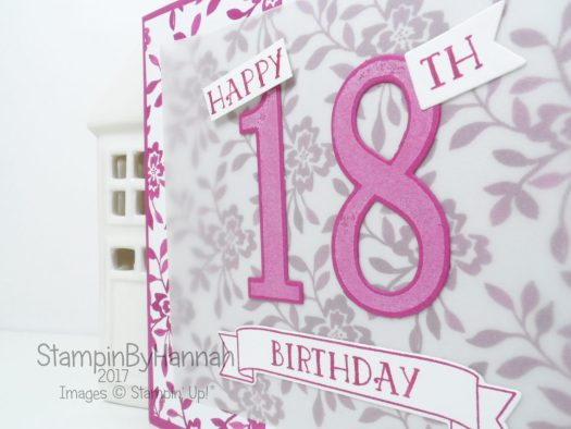 Fresh Florals Pink Happy Birthday Card using Number of Years from Stampin' Up!