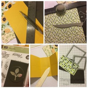 Painted Harvest Fancy Fold Card using Stampin' Up! Uk products