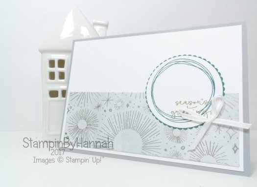 Silver Christmas Card for Inspire.Create.Challenges using Year of Cheer from Stampin' Up!