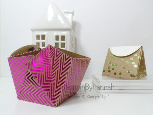 Make It Monday Video Tutorial Explosion Bag using Foil Frenzy from Stampin' Up!