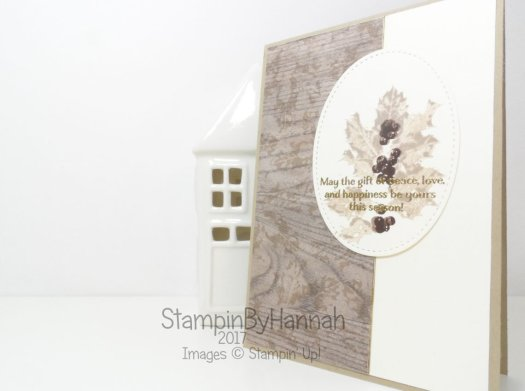 Classic Christmas Card using Good Tidings and Wood Textures Designer Series Paper from Stampin' Up!