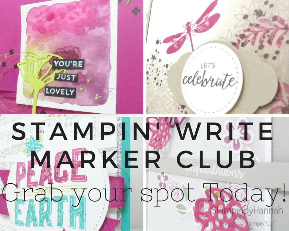 Stampin' Write Marker Club Stampin' Up! UK StampinByHannah
