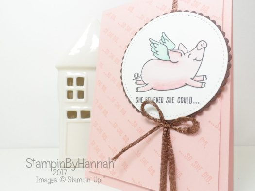 She Believed She Could., So She Did Stampin' Blends Card using This Little Piggy from Stampin' Up!