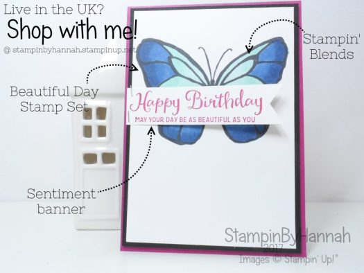 StampinByHannah shares a fun Butterfly Birthday Card using the Beautiful Day Stamps from Stampin' Up!