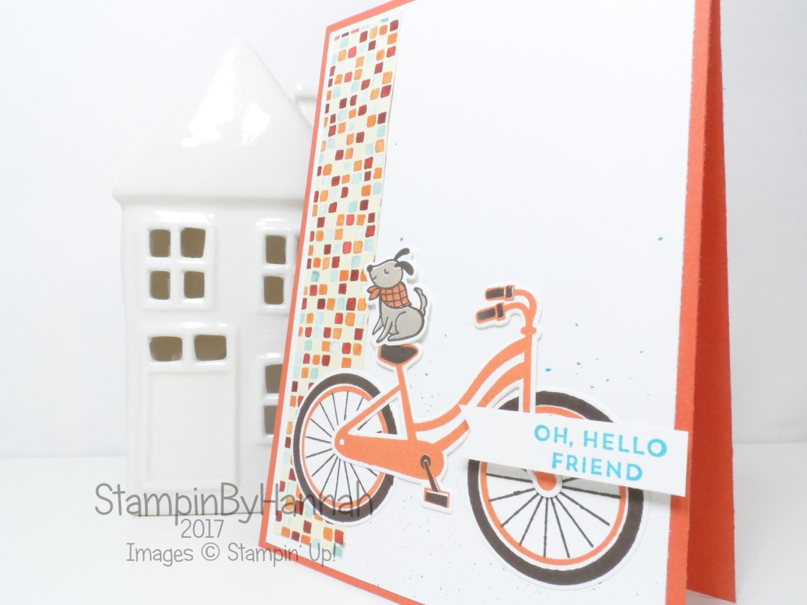 Bike Ride guy card using Stampin' Up! products