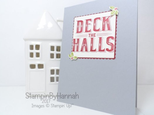 Quick and easy Carols of Christmas Card Tutorial using Stampin' Up! products