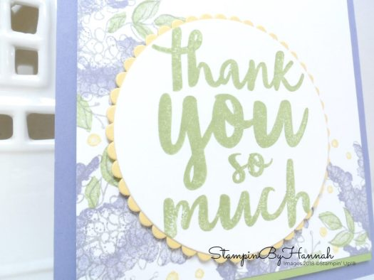 Lots of Lavender Sale-a-bration Thank You card using Stampin' Up! Products