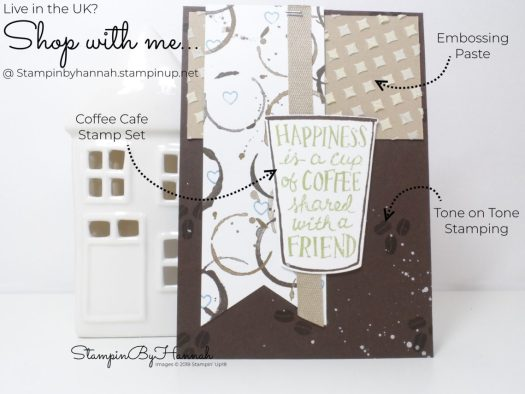 Make It Monday Inspire.Create.Challenges Sketch Challenge using Coffee Cafe from Stampin' Up!