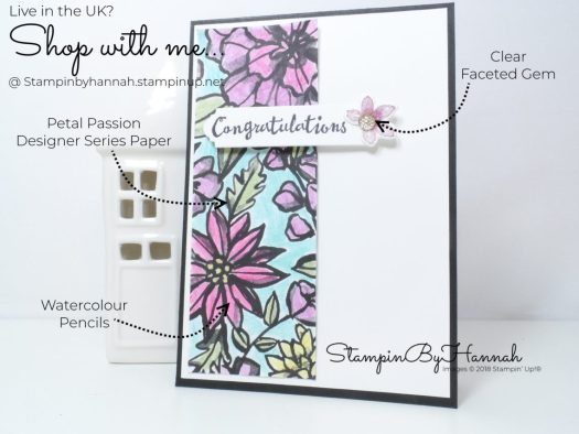 Fun Floral Congratulations card using Petal Palette from Stampin' Up!