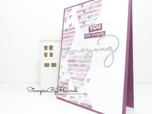 How to Make a cute card using Heart Happiness from Stampin' Up! with Video Tutorial