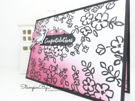 Make It Monday How to use a Sponge Brayer with Petal Passion Designer Series Paper from Stampin' Up!