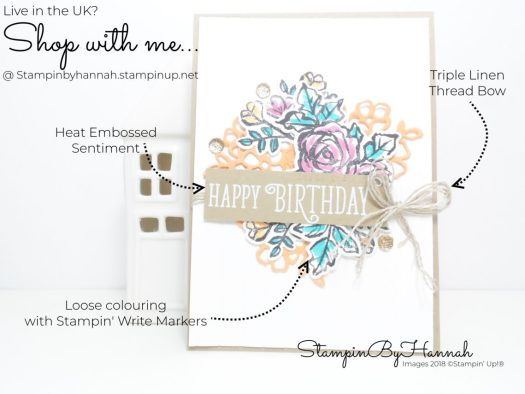 How to create a fabulous floral Birthday card using Petal Palette from Stampin' Up!