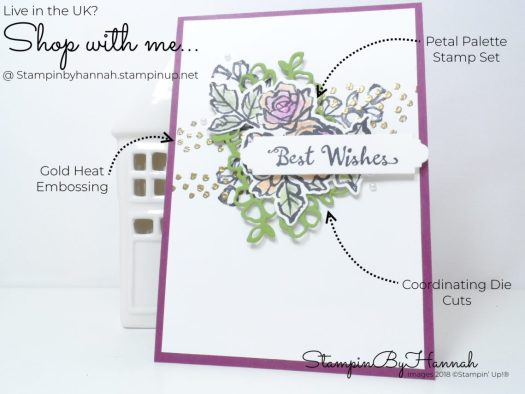 How to make a fabulous Best Wishes card using Petal Palette from Stampin' Up!