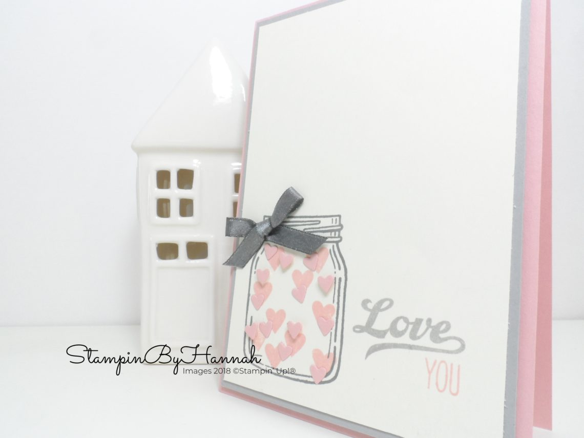 How to make a cute Valentines card using Jar of Love from Stampin' Up!