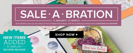 Stampin' Up! Sale-a-bration 2nd release 2018