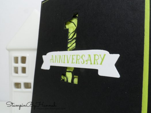 Fun Anniversary card using Number of Years from Stampin' Up!