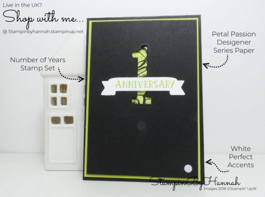 How to create a fun anniversary card using Number of Years from Stampin' Up!