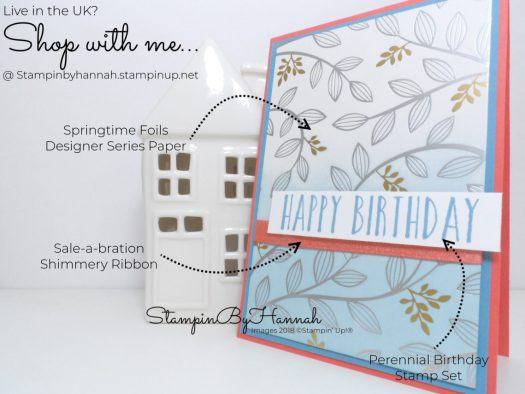 How to make a fun birthday card video tutorial with Perennial Birthday from Stampin' Up!