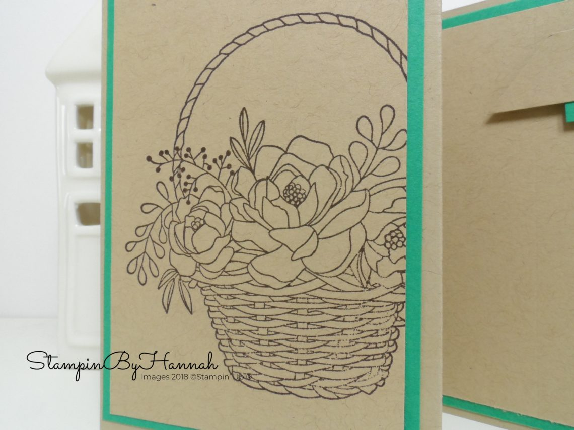 InspireINK Blog Hop Z Fold Card using Blossoming Basket from Stampin' Up! Sale-a-bration