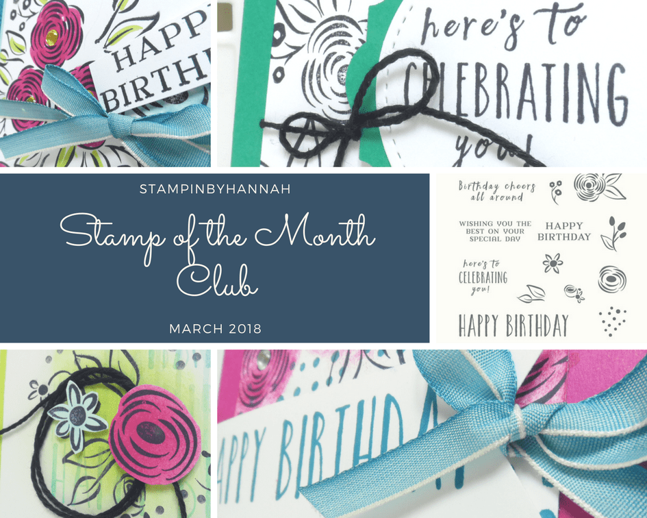 Stamp of the Month Club March Perennial Birthday from Stampin' Up!