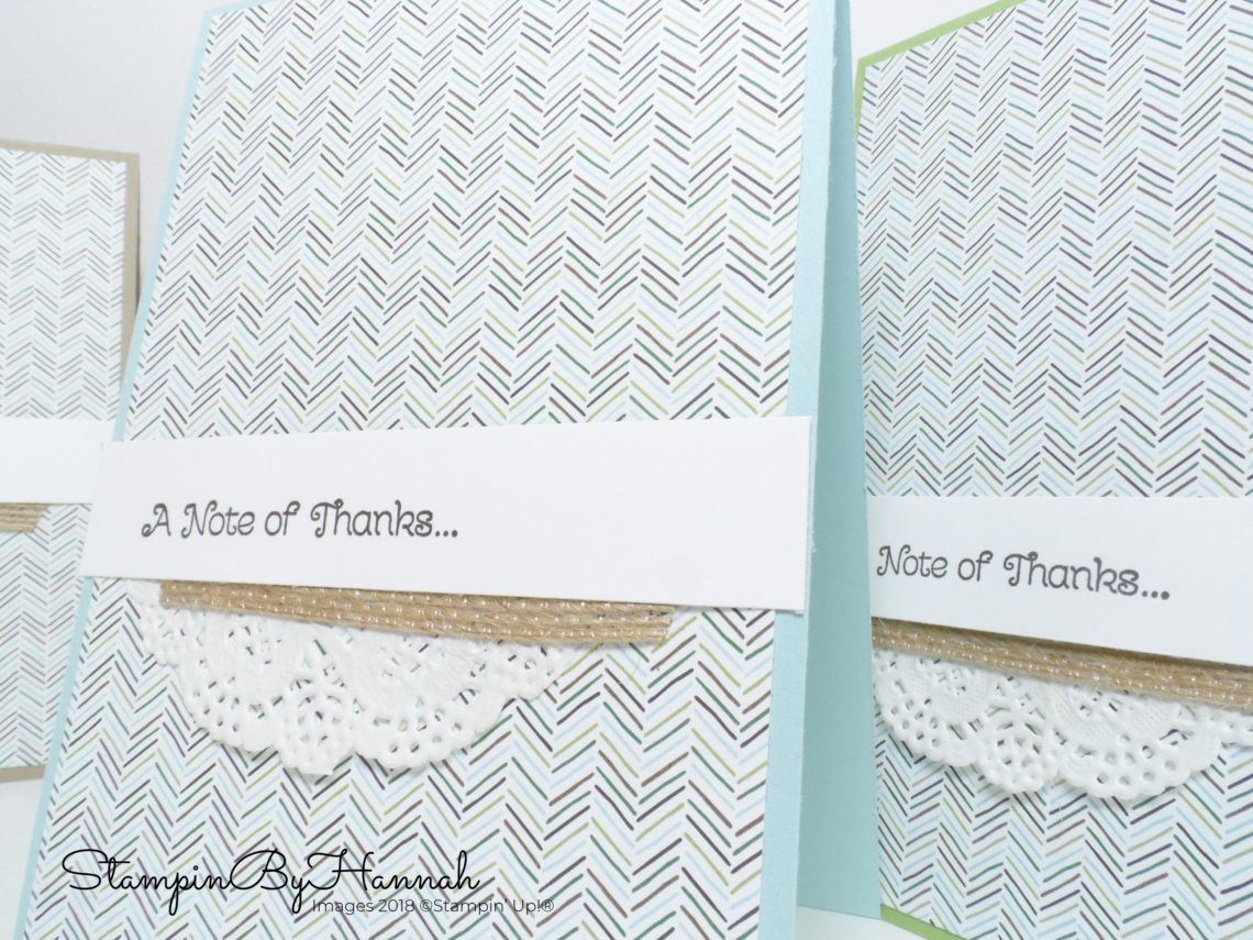 Make It Monday Video Tutorial Quick and Easy cards with Coffee Break Designer Series Paper from Stampin' Up!
