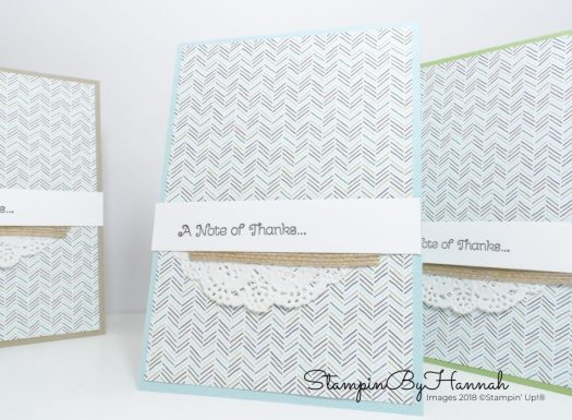 How to make 6 cards from a single sheet of Coffee Break Designer Series Paper Make It Monday Video Tutorial using Stampin' Up! products