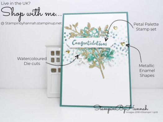 How to make a watercolour floral Congratulations card using Petal Palette from Stampin' Up!