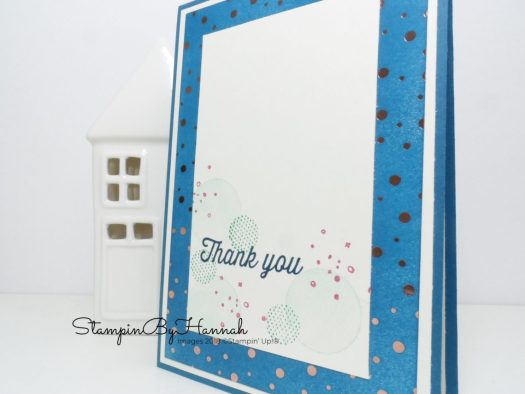 How to use a Sponge Brayer with the Sale-a-bration Springtime Foils Designer Series Paper from Stampin' Up!