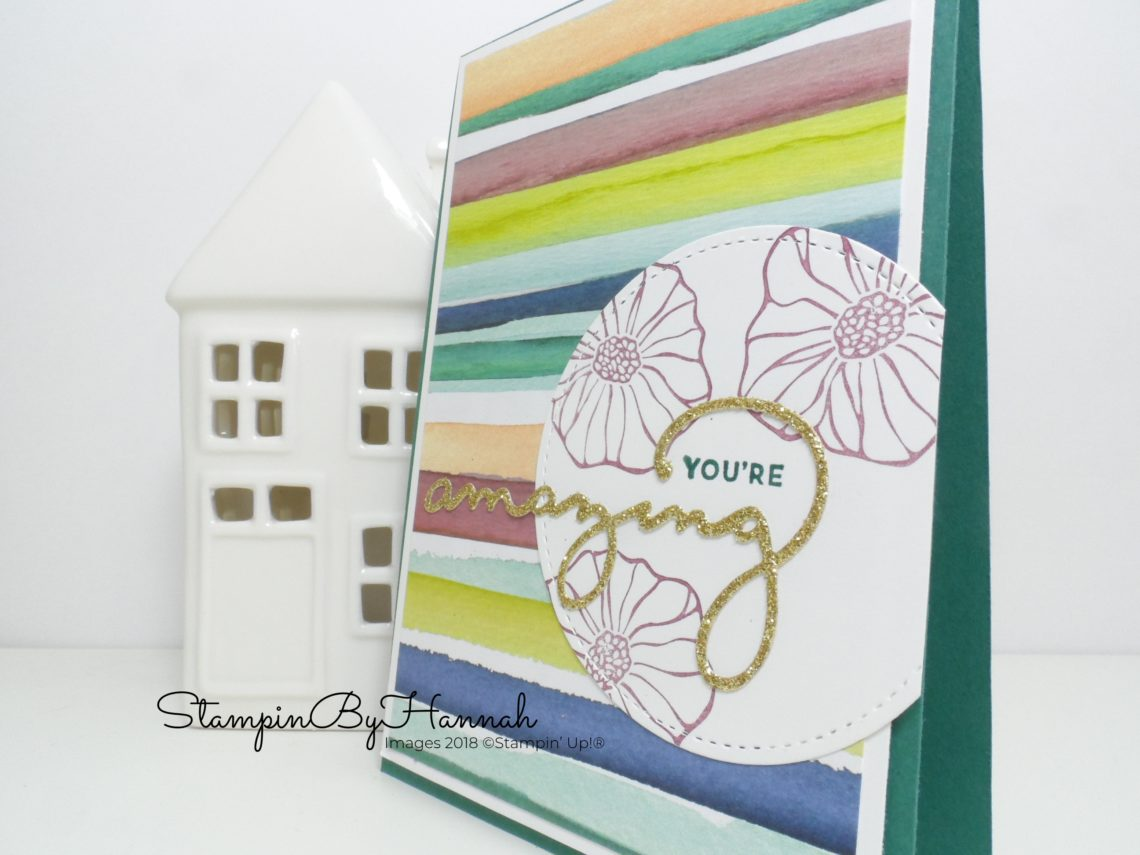 How to make a quick and easy card using a sketch with StampinByHannah Independent Stampin' Up! Demonstrator