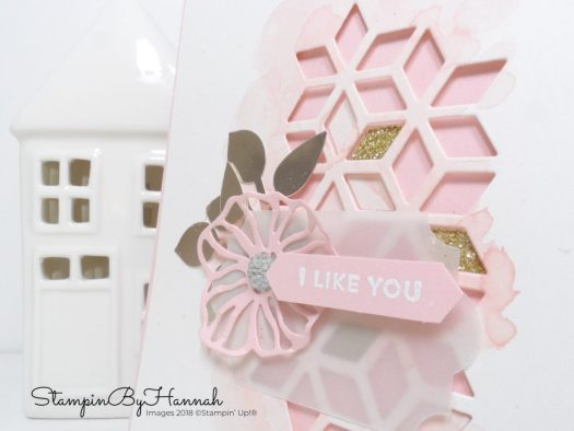 Fun and pretty Valentines card using Oh So Eclectic from Stampin' Up!