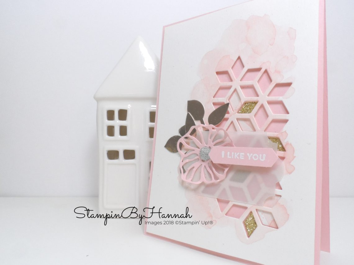 How to created hard lines watercolour background with Stampin' Up! inks