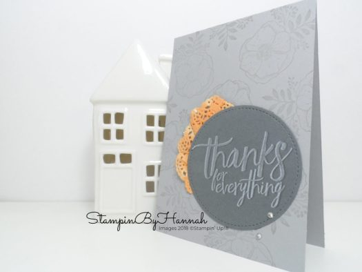All Things Thanks card using Amazing You from Stampin' Up! Sale-a-bration