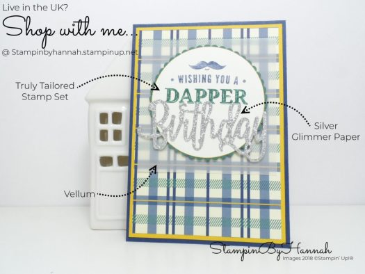 How to make a masculine birthday card using Truly Tailored from Stampin' Up!