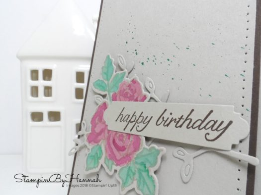 Quick and fun watercolour birthday card using Petal Palette from Stampin' Up!