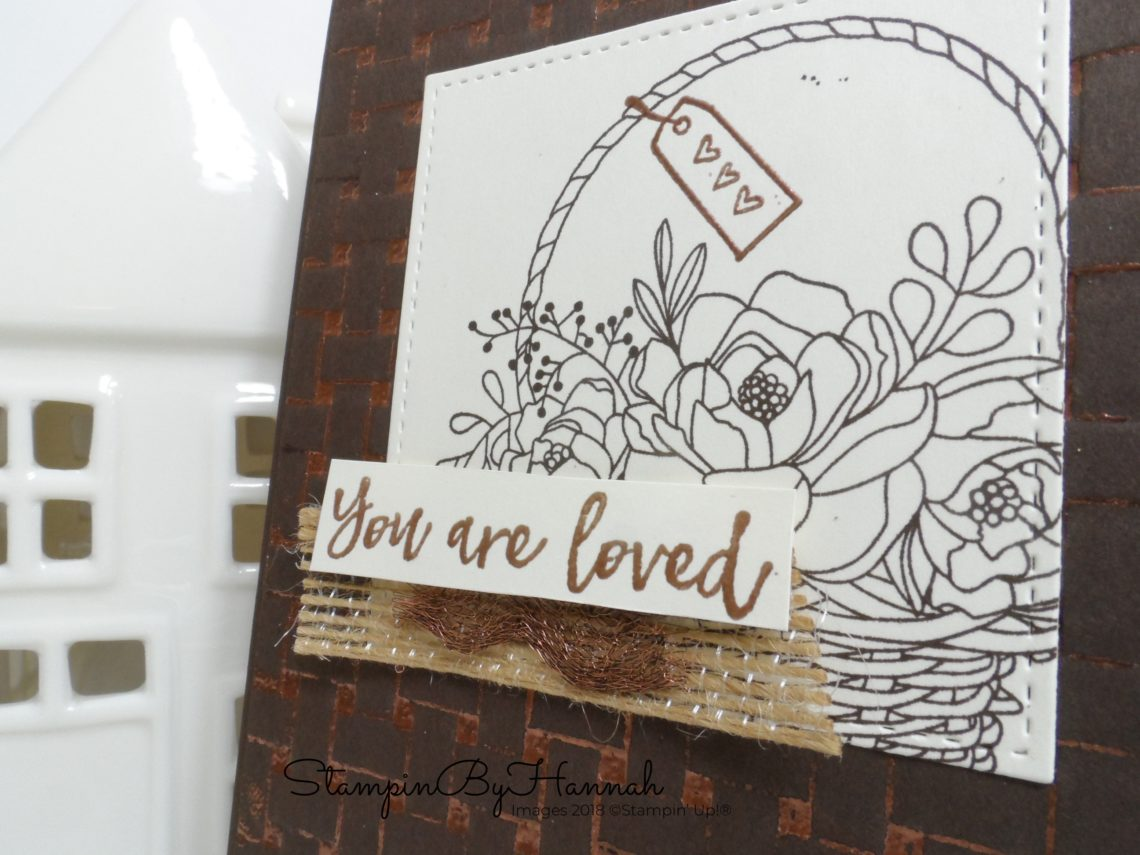 How to Video Tutorial Double Embossing with Basket Weave from Stampin' Up!