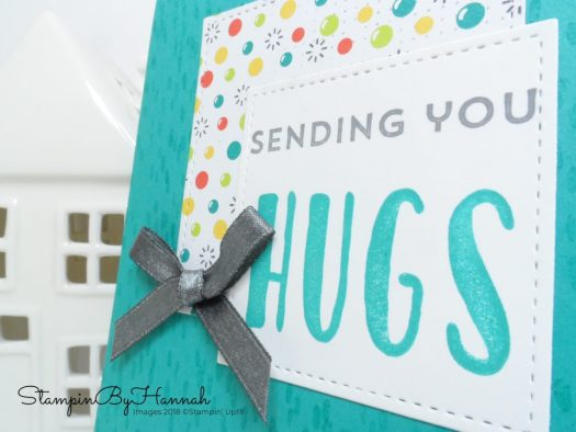 Sending Hugs card using Lovely Inside and Out from Stampin' Up!