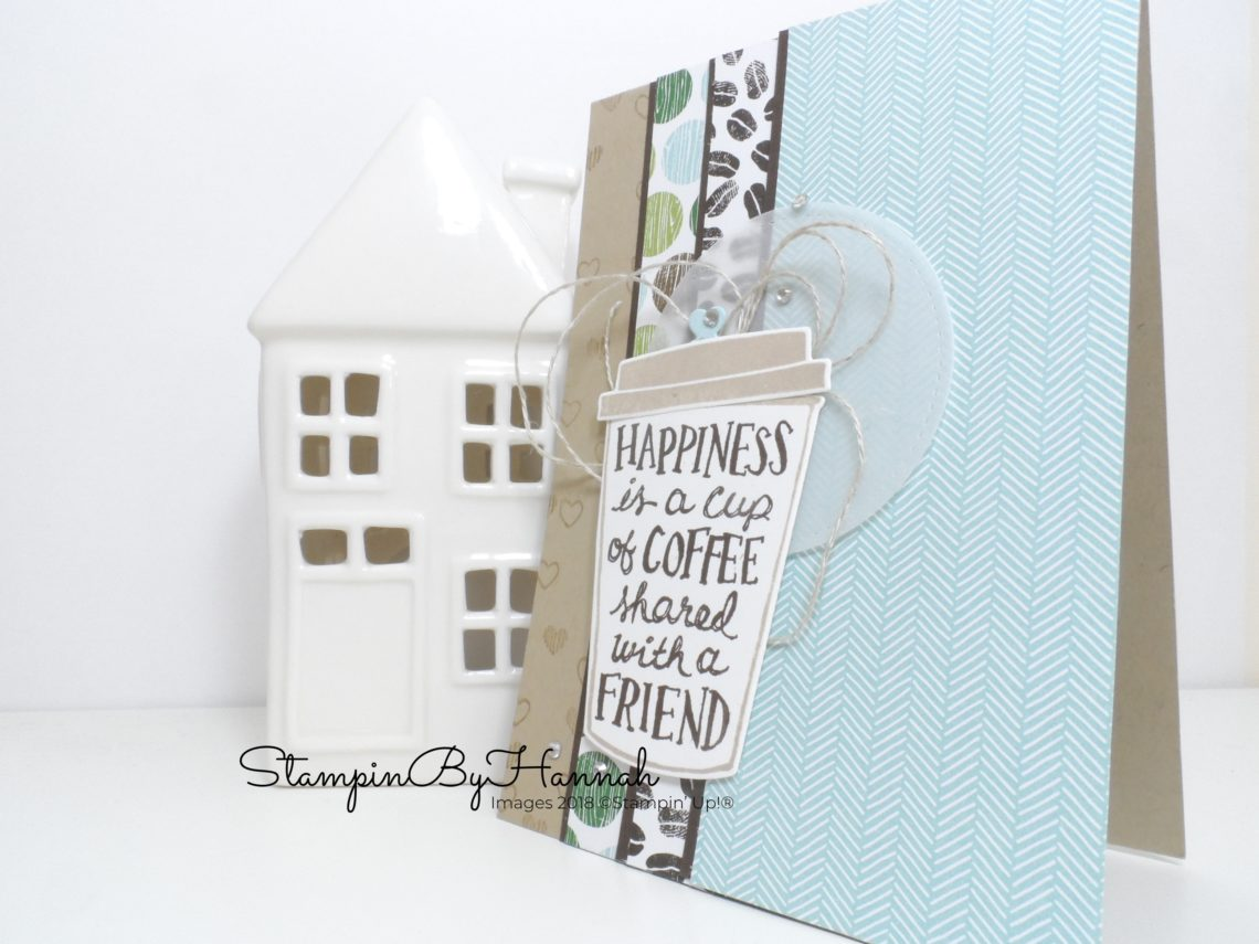 International Blog Highlights Coffee Cafe Love Card using Stampin' Up! products