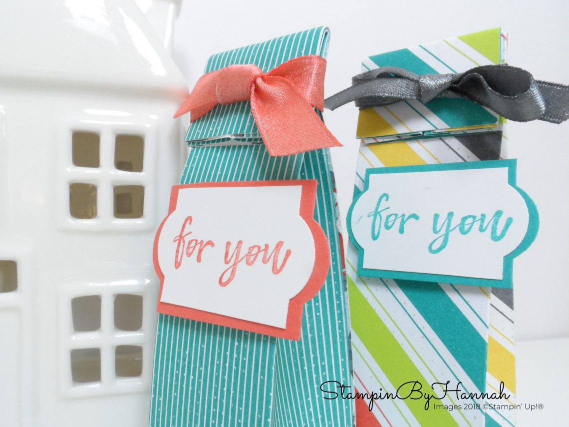 Make It Monday Video Tutorial Fold Top Mini Gift Bags using Bubbles and Fizz Designer Series Paper from Stampin' Up! Sale-a-bration
