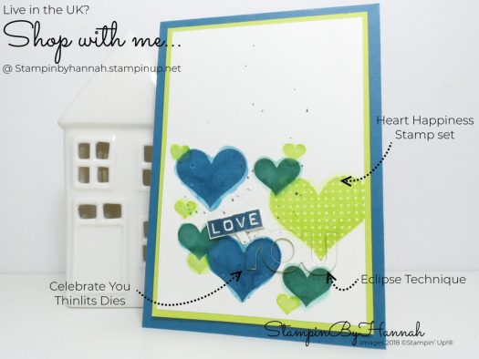 How to make a masculine Love You card with Heart Happiness from Stampin' Up!