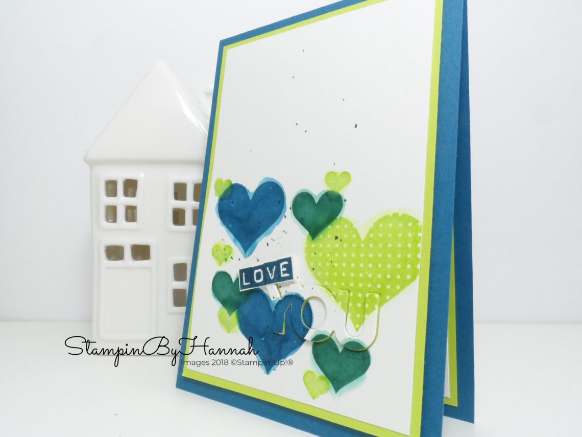 Guys Valentines Day card using Heart Happiness from Stampin' Up!