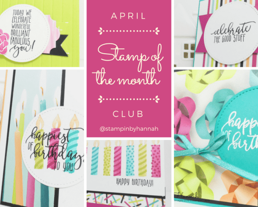 StampinByHannah Stamp of the Month Club April 2018 Picture Perfect Birthday