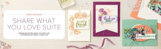 Stampin' Up! Share What You Love Suite Early Release Bundles