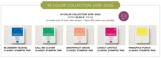 Stampin' Up! In Colour 2018-2020 Ink pad bundle