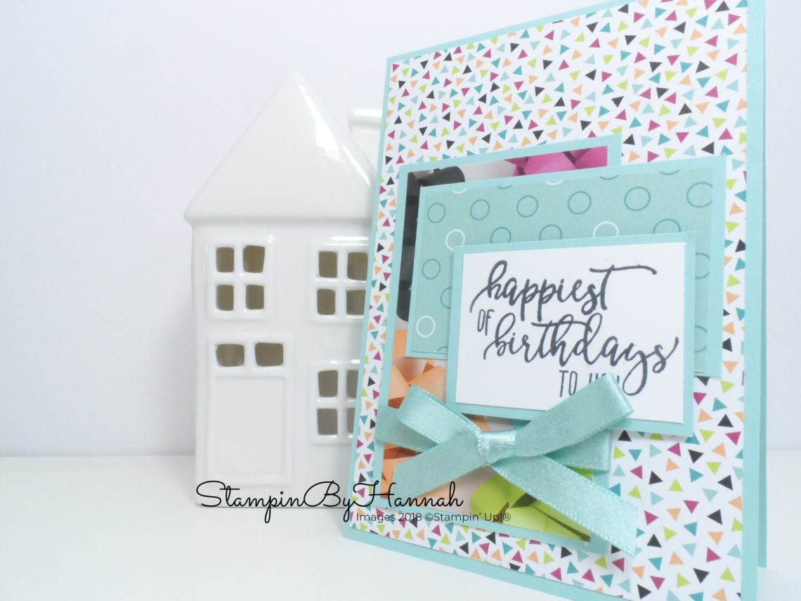 Make It Monday Video Tutorial How to make a fun birthday card using Picture Perfect Party Designer Series Paper from Stampin' Up!