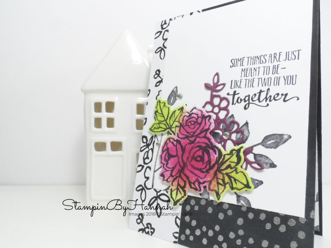 How to make a classic Floral Wedding Congratulations card using Petal Palette from Stampin' Up!