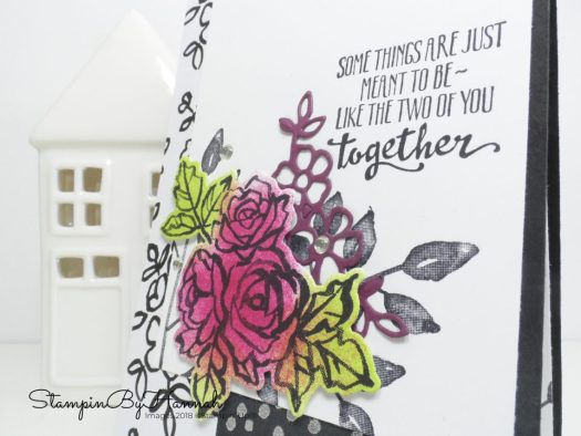 Make It Monday Video Tutorial How to step up this fun Petal Palette Wedding Congratulations Card using Stampin' Up! products