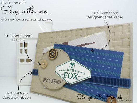 How to make a classic Man's Birthday Card using True Gentleman from Stampin' Up!
